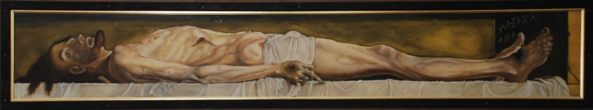 Keith Tutt - Jesus in the Tomb (After Holbein) 2017 copy