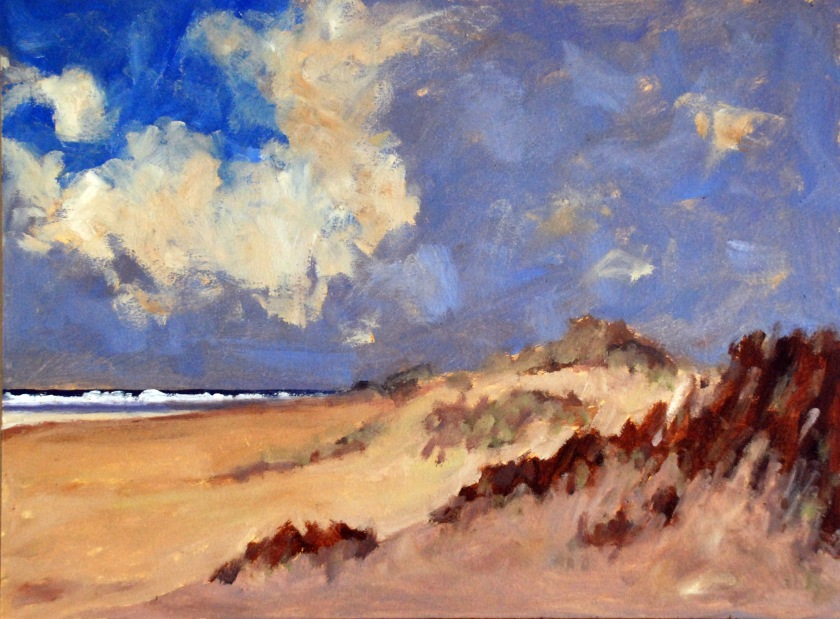 "Holkham Beach, Norfolk (after Edward Seago) - Keith Tutt - 2018 - 16"" x 12"""