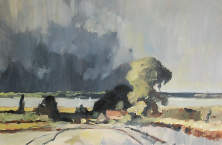 Storm Aprroaching, Suffolk (after Edwards Seago) - Keith Tutt - 2018